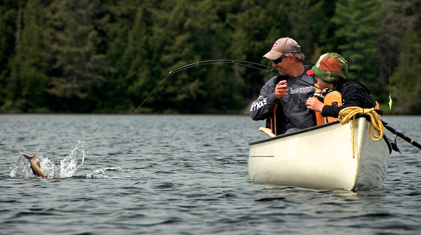 Casting a Fly for Trout