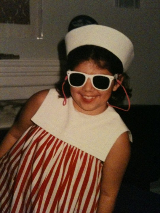 "The author, as a child, geared-up for a nautical ""outing"""