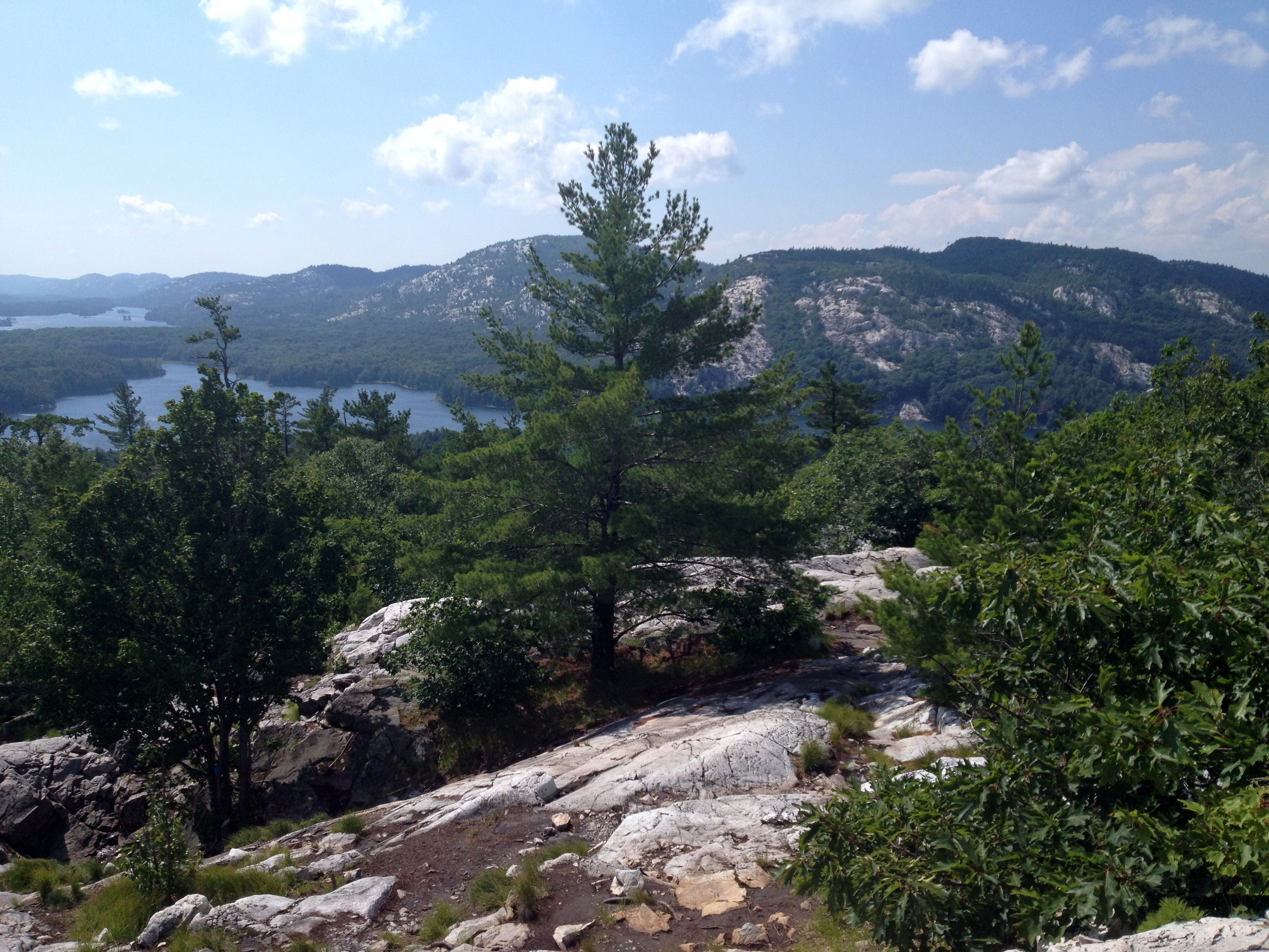 "Views from the top of ""The Crack"" trail at Killarney Provincial Park"