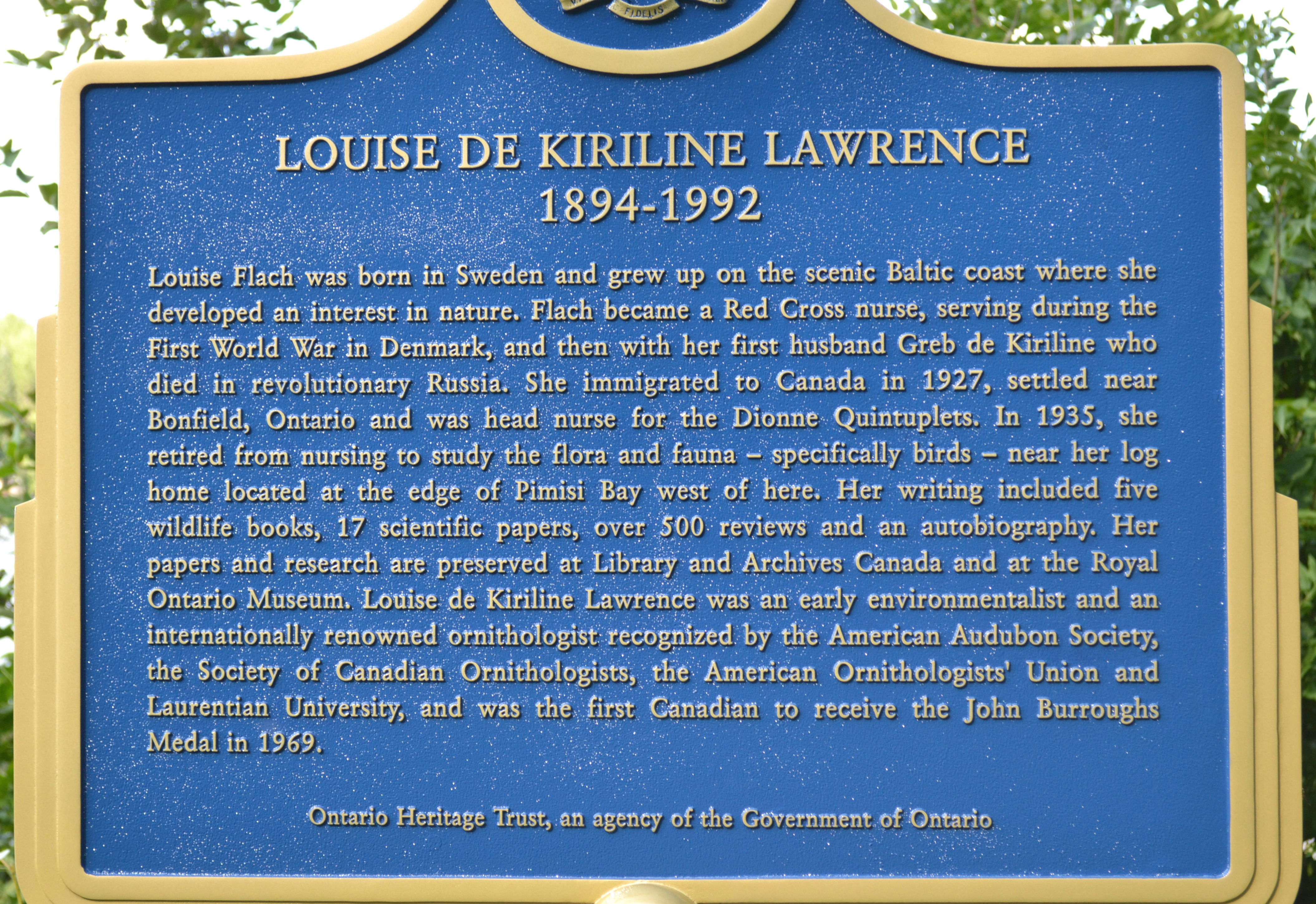 Louise de Kiriline Lawrence