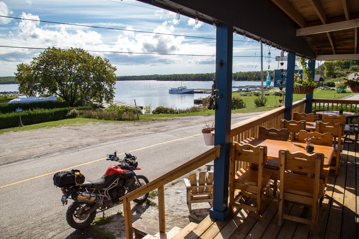 The view from the Meldrum Bay Inn.