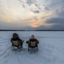 ice fishing at big moose camp