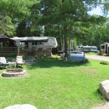 camping experience at booth landing camping cottages
