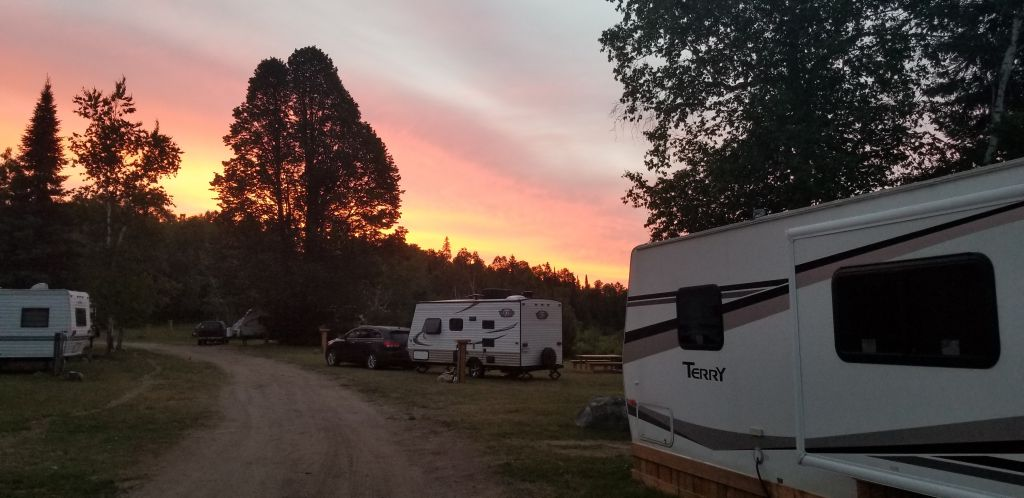 Sunset at Lazy Rock RV and Campground