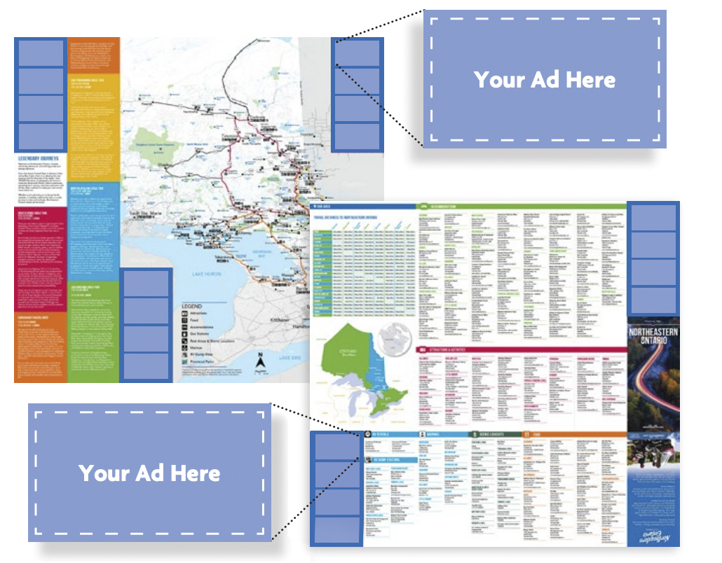 Advertise in Northeastern Ontario Maps